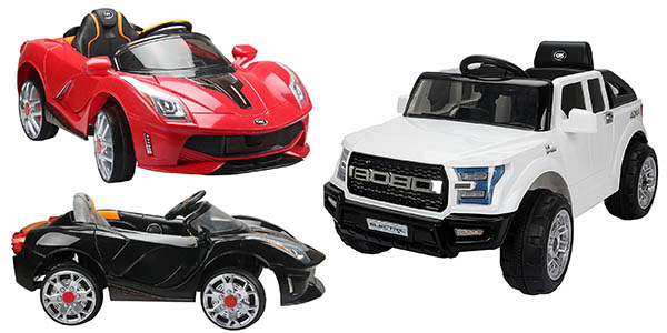 coche deportivo todoterreno infantil eléctrico con cupón descuento PNAVIDAD10 eBay
