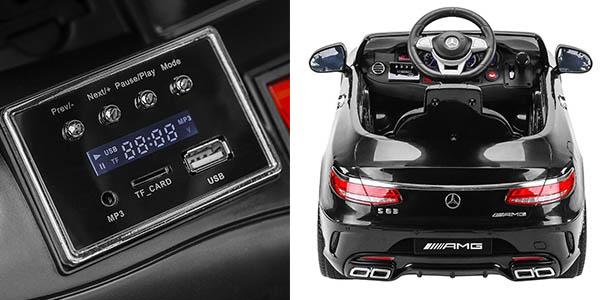 coche eléctrico infantil Mercedes-AMG S-63 con mando a distancia luz y música