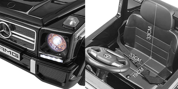 coche infantil automático elementos seguridad Mercedes Benz AMG G65 barato