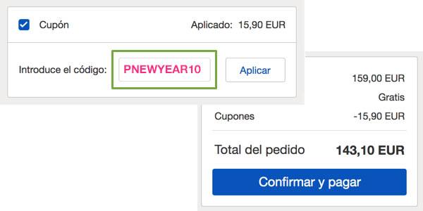 Cupón PNEWYEAR10 en eBay