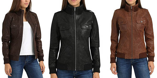 Desires Fame chaqueta de cuero para mujer oferta flash Amazon