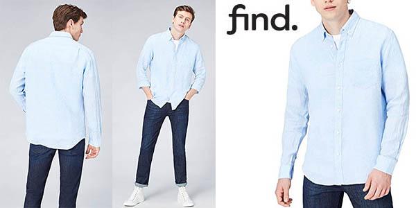 Find camisa de lino para hombre barata