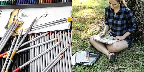 Lápices para Acuarela Coloré – 72 Lápices de Colores Solubles en Agua para Estudiantes de Arte y Profesionales chollazo en Amazon