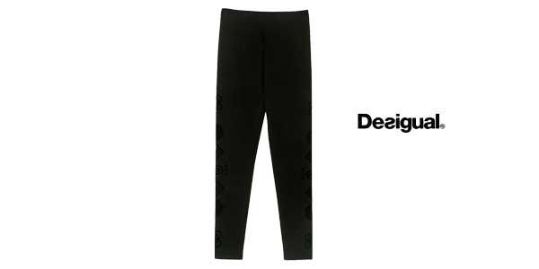 Leggings Desigual Marioti en color negro chollazo en Amazon Moda