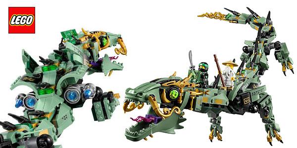 Set LEGO Ninjago Dragón Mecánico Ninja Verde con 4 figuras rebajado