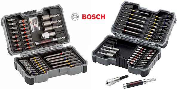 Maletín Bosch de 43 puntas para atornillar y llaves de vaso rebajado