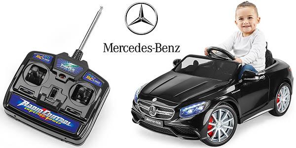 Mercedes Benz-AMG S63 réplica coche infantil con control remoto Playkin barato