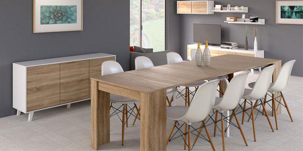 Chollo mesa consola para comedor extensible hasta 268 cm (10 ...