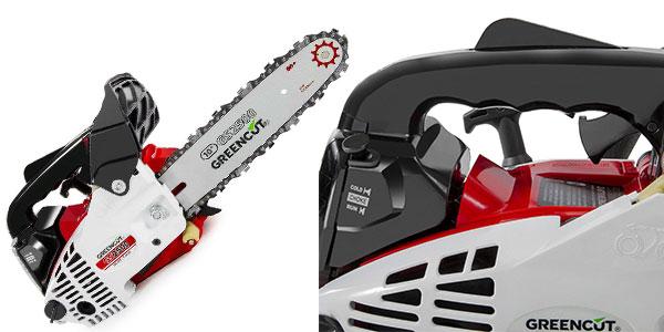 Motosierra Greencut GS2500 con espada de 10 pulgadas y motor de gasolina rebajada