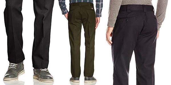 pantalón chino trabajo resistente Dickies Straight para hombre chollo