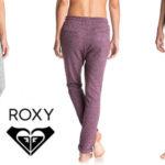 Pantalones de chándal Roxy Signature Feeling en gris y en morado para mujer rebajado