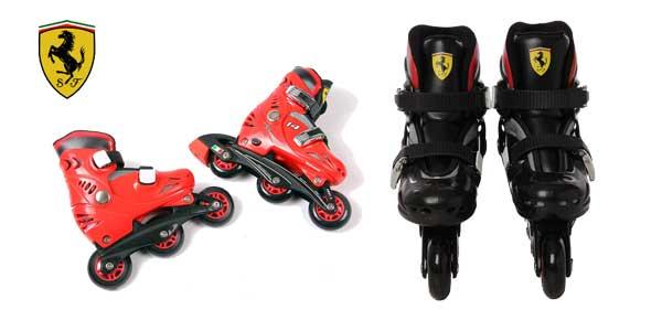 Comprar Patines ajustables Ferrari FK7 en color rojo o negro en línea baratos en eBay España