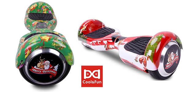 Patinete Eléctrico Cool&Fun con diseño navideño