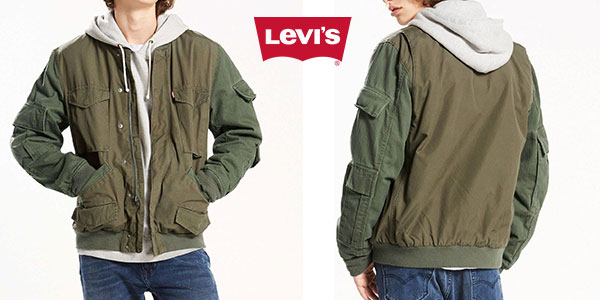eb2dc8275d4 Chaqueta bomber Levi s de color verde oliva para hombre por sólo 60 ...