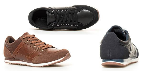 Piero Black Barred zapatillas casual para hombre baratas