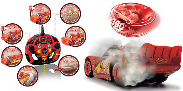 Coche RC radio control Rayo McQueen de Disney Cars 3 rebajado