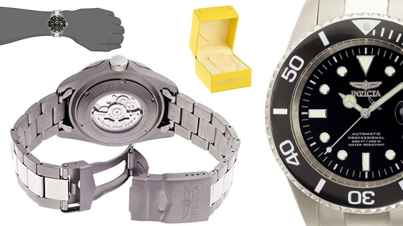 Reloj de pulsera Invicta Pro Diver 0420 silver barato