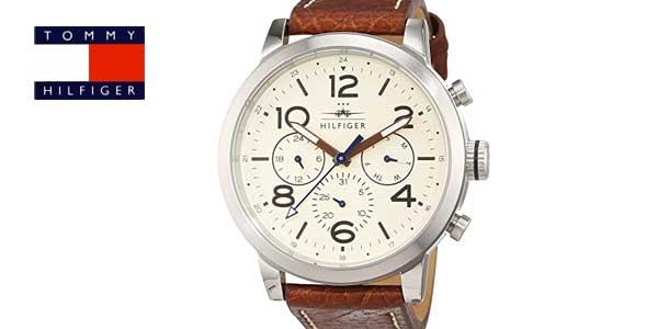 Tommy Hilfiger 1791230 – Reloj analógico de cuarzo con correa de cuero para hombre barato en Amazon Moda