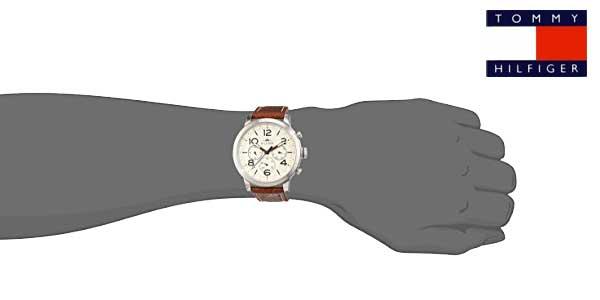 Tommy Hilfiger 1791230 – Reloj analógico de cuarzo con correa de cuero para hombre chollo en Amazon Moda