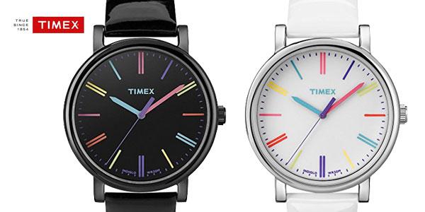 00e52b6326c6 Reloj analógico Timex T2N791 con correa de cuero para mujer barato en  Amazon Moda