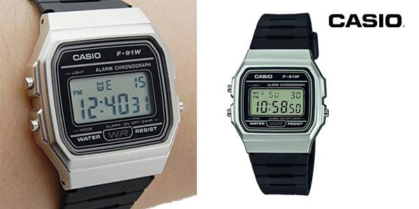 cf00b6986c8 Casio Collection F-91WM-7AEF Reloj Digital Unisex con Correa de Resina  chollo en