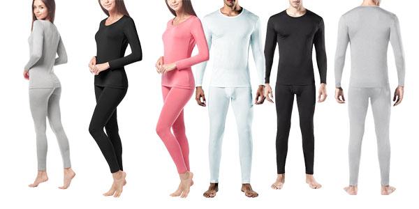 Kit de ropa térmica LAPASA (Camiseta y pantalon) en 3 colores para mujer u hombre barato en Amazon España