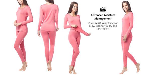 Kit de ropa térmica LAPASA (Camiseta y pantalon) en 3 colores para mujer u hombre chollazo en Amazon España