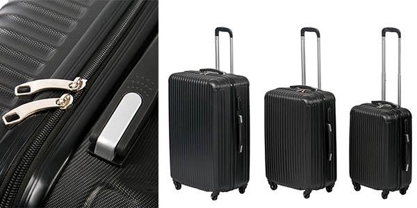 Set 3 trolleys semirígidos ABS cupón descuento PNAVIDAD10 eBay
