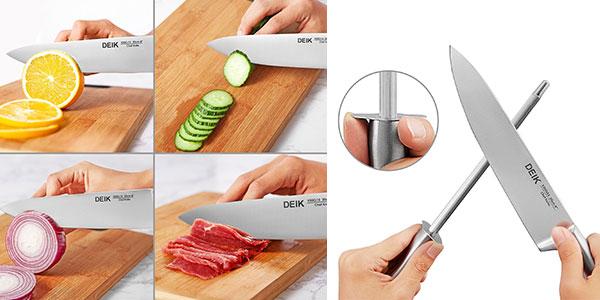 Set de cuchillos de acero inoxidable rebajado