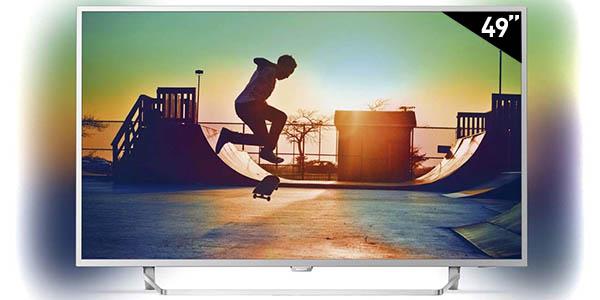 "Smart TV Philips 49PUS6412 UHD 4K de 49"" con Ambilight"