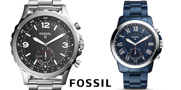 Smartwatches híbridos Fossil Q Nate y Fossil Q Grant