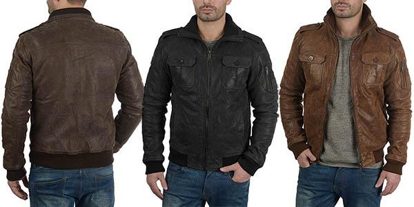 !Solid Fash chaqueta cuero hombre barata