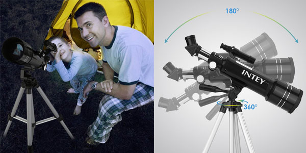 Telescopio Intey Ultra-alto Claro De 70 mm con lentes intercambiables y mochila de transporte chollo en Amazon