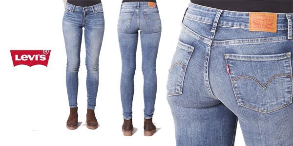 77639c7446c Pantalones vaqueros Levi s Innovation Jean skinny para mujer en color azul  claro baratos en eBay Moda