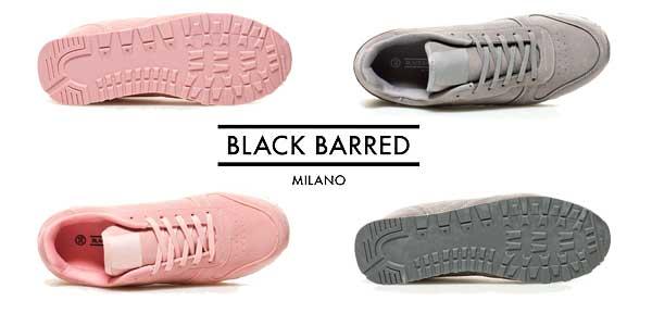 Comprar Zapatillas Black Barred Manzoni chollo en eBay