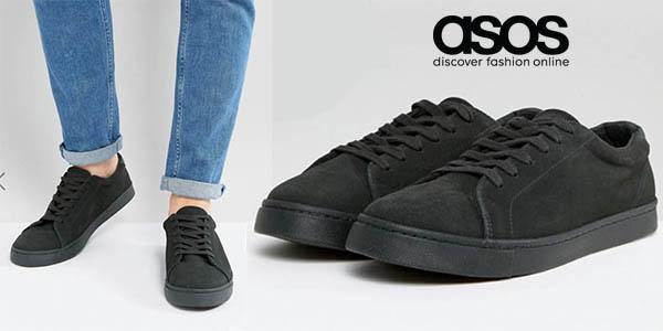 Asos zapatillas color caqui ante diseño casual para hombre chollo
