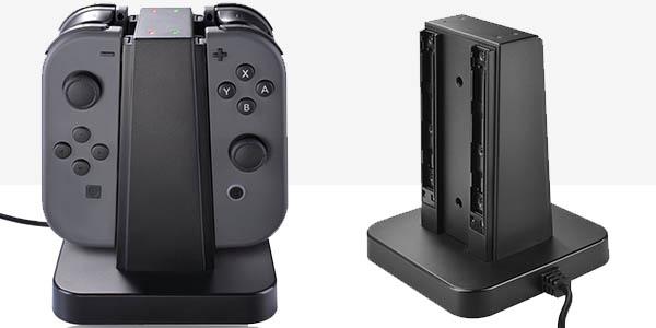 Base de Carga y soporte Joy Con 4 en 1 de Nintendo Switch