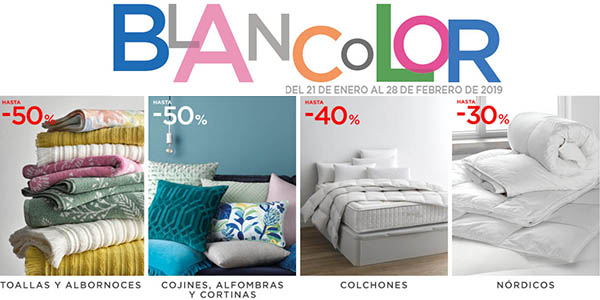 Blancolor El Corte Inglés ropa de cama y textil hogar ofertas