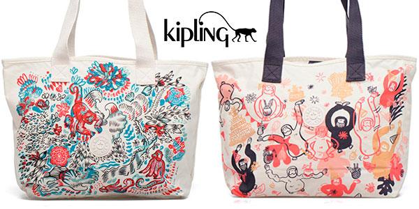 Bolsa playera de tela Kipling Congratz para mujer en oferta