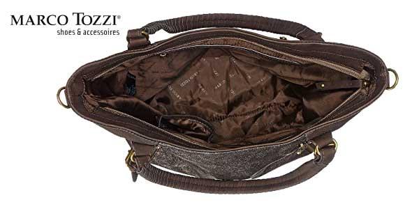 Bolso Shopper Marco Tozzi 61023 en color marrón chollo en Amazon Moda
