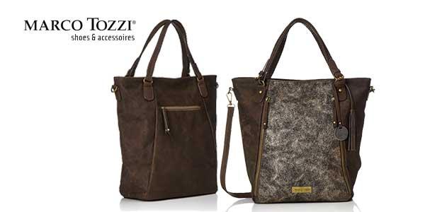 Bolso Shopper Marco Tozzi 61023 en color marrón barato en Amazon Moda