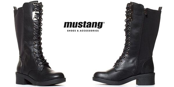 Botas altas de piel con efecto neopreno Mustang Scorpio para mujer rebajadas