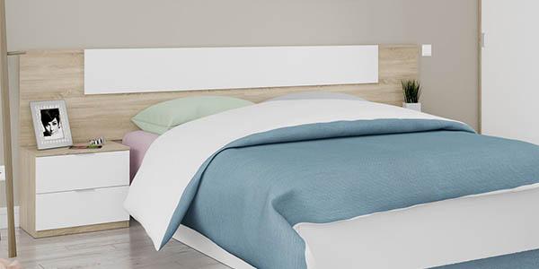 cabezal cama diseño nórdico mesitas noche gran relación calidad-precio