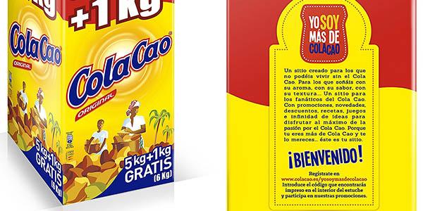 caja ColaCao formato maxi 2 paquetes 3 kg precio brutal