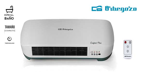 Calefactor de baño split Orbegozo SP 5026 con mando a distancia de 2000 W chollo en Amazon