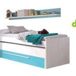 Cama nido juvenil (2 camas de 90) con cajón y estante a juego barato en eBay España