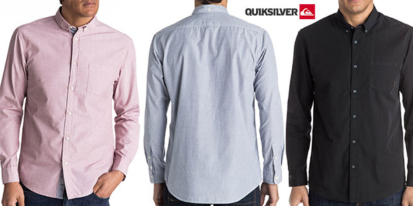 Camisa lisa Quiksilver Everyday Wilsden en varios colores para hombre rebajada