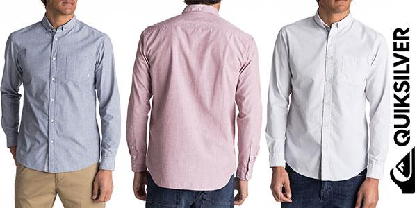 Camisa de manga larga Quiksilver Everyday Wilsden para hombre barata