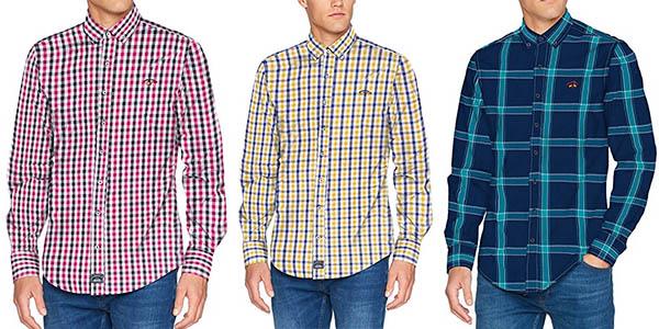 colores y llamativos retro 100% de garantía de satisfacción Camisas Spagnolo de diseño casual con cuadros para hombre ...