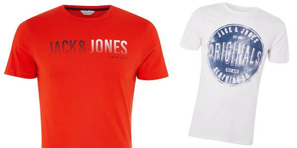 camisetas diseño casual para hombre Jack & Jones oferta Zavvi